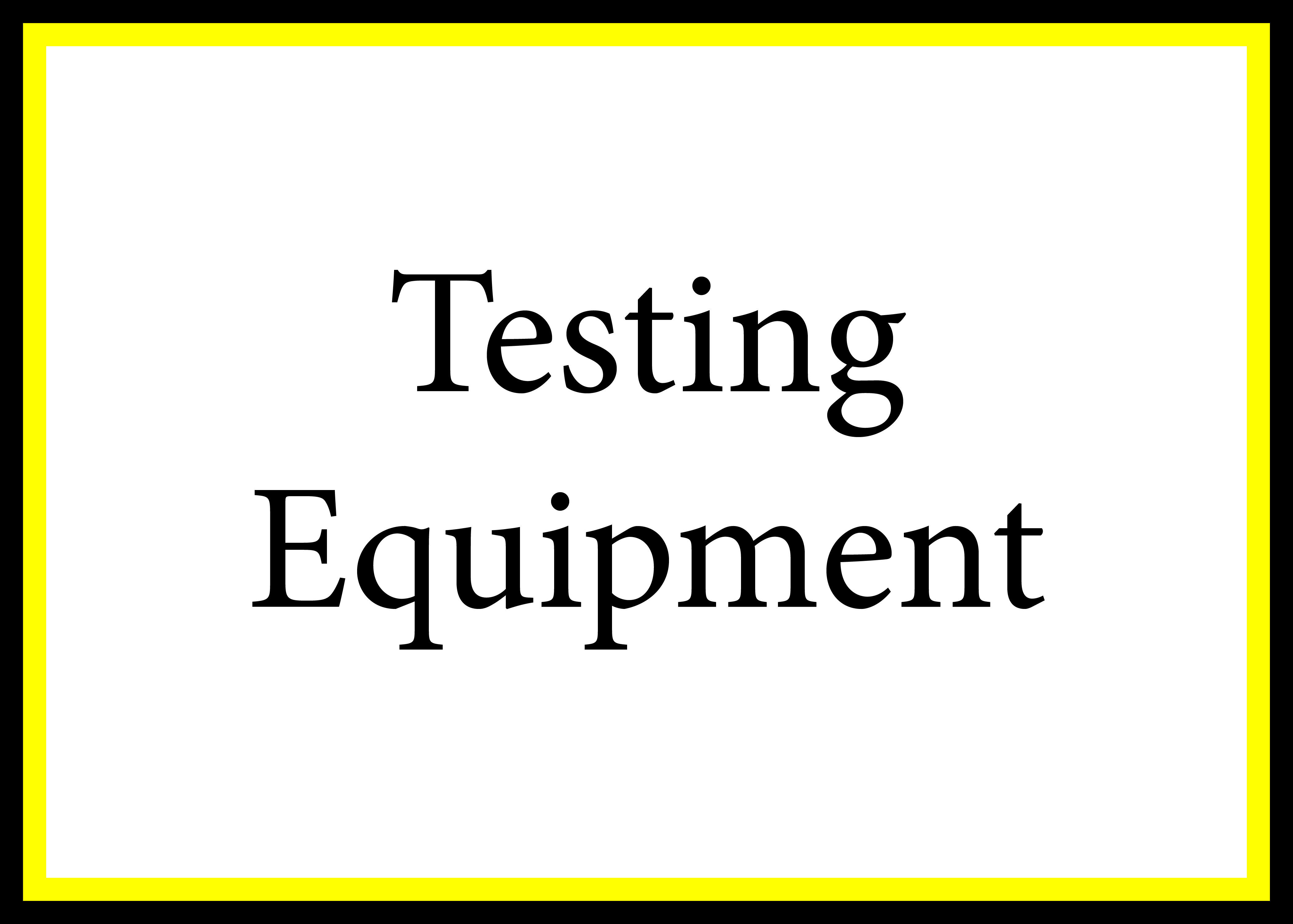 Testing Equipment CP